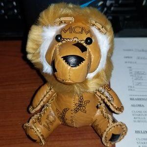 Mcm lion keychain charm